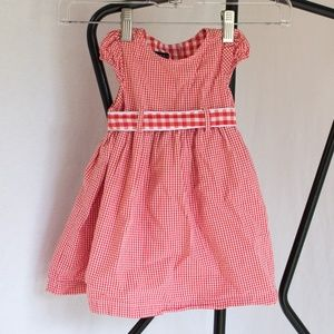 Tommy Hilfiger Red&White Checkered Dress 6-12M